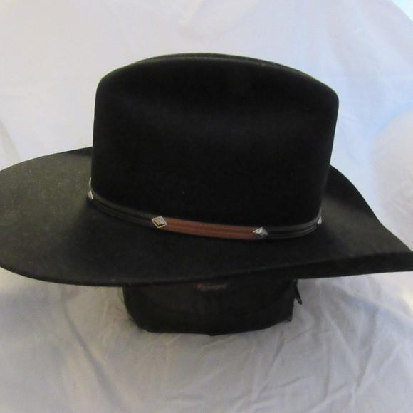 John B. Stetson 4X Beaver Black. M 5c44e37e04e33d121568d62e a455ef9d4a4